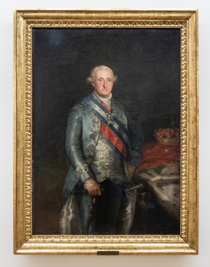 Carlos IV by Goya, 1789, in the Museum of Fine Arts in Oviedo