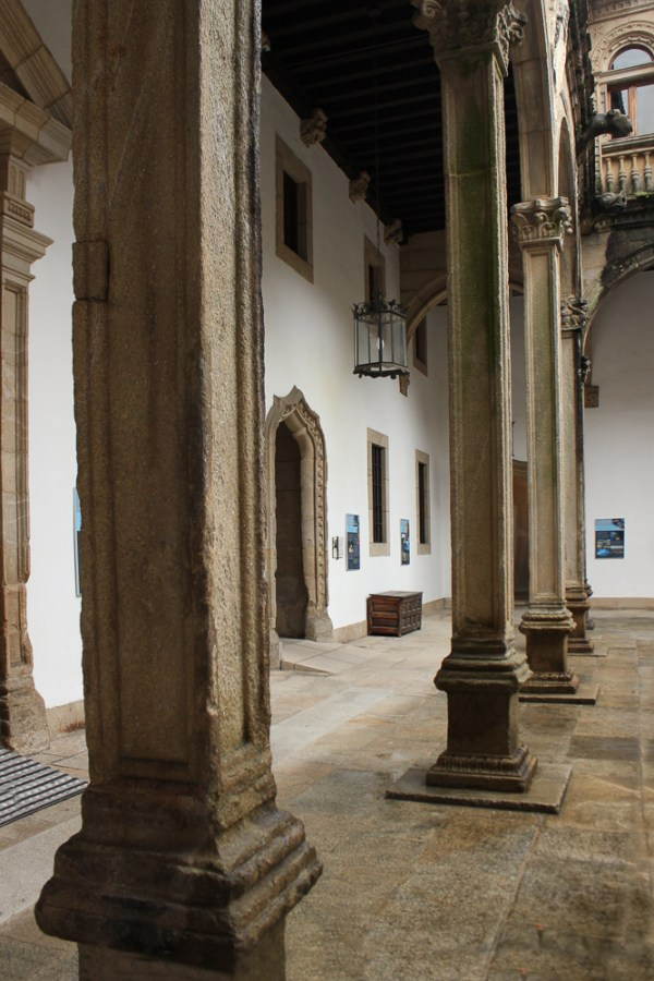 Patio of San Juan in the Parador in Santiago de Compostela