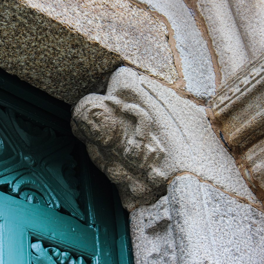 Carving on the door of Santiago
