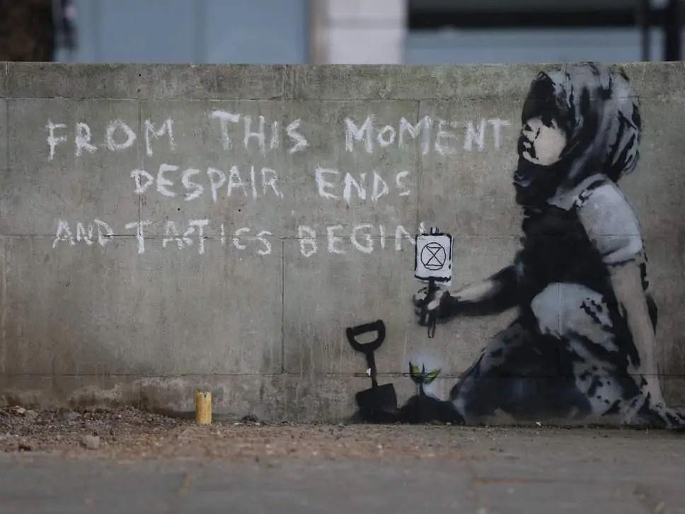 Un murales per l'ambiente a Londra: è opera di Banksy?