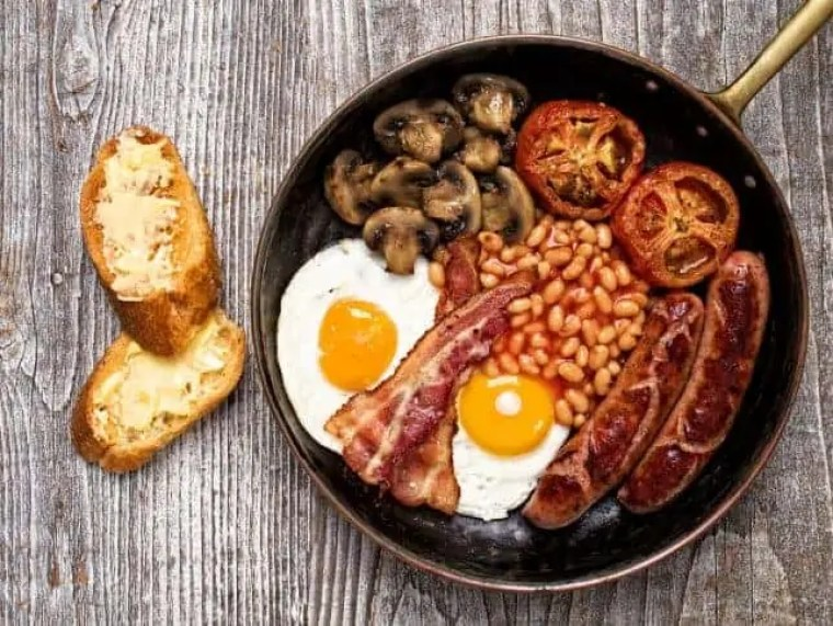 cosa mangiare a londra: full english breakfast