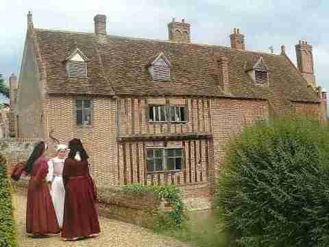 Kentwell Hall nel Suffolk, una vecchia casa dei tempi dei Tudor