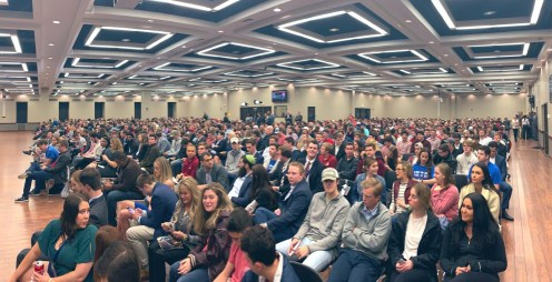 Photo provided by Spencer Brown - crowd for Ben Shapiro at UA