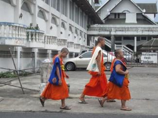 3 monjes en Chiang Mai