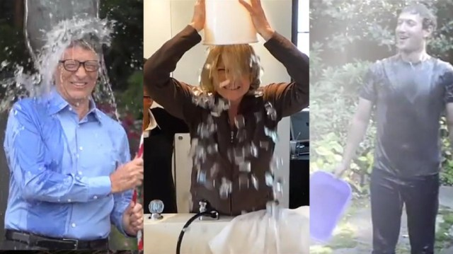 Celebrities all join in on the ice bucket challenge