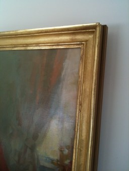 A classic profile suitable for historic or contemporary paintings. Shown here around a recent portrait by Tina Ingraham