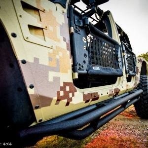 Custom Camo Jeep Wrangler Close Up Drivers Side