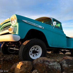 1959 Chevy Apache Truck Front Drivers Side