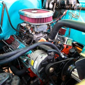 1959 Chevy Apache Truck Under the Hood