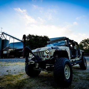 Lone Star 4X4 Camo Jeep Wrangler Front Drivers Side