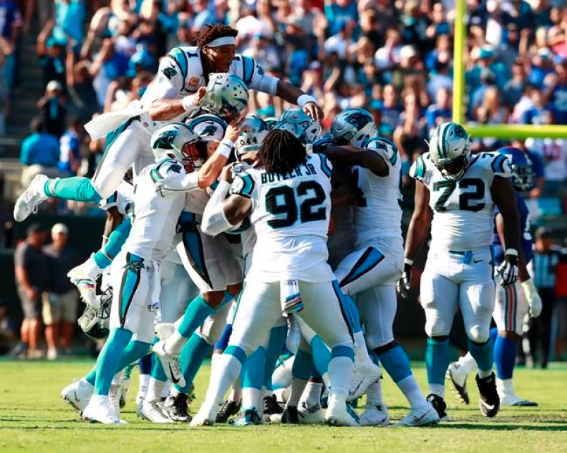 Carolina Panthers beat New York Giants 33-31 in nail-biter