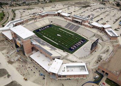 Texas high school football Allen, Texas stadium $60 million