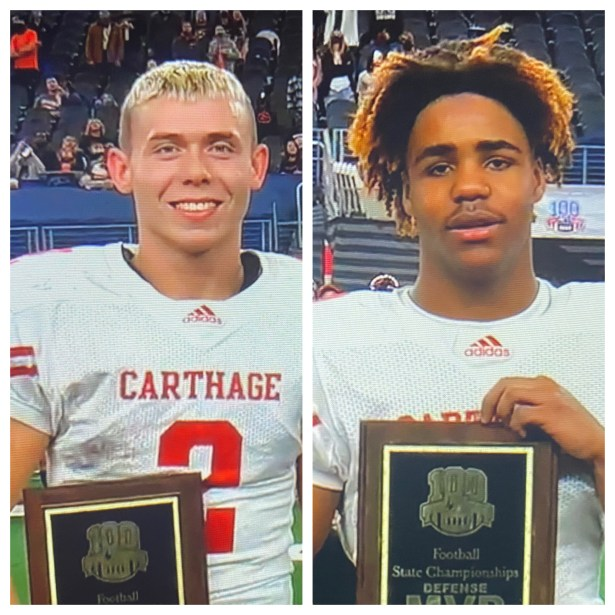 Mason Courtney and Brandon King - Carthage 2020 State Champions