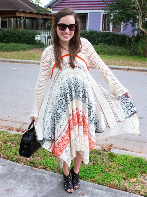 Anthropologie Risen Sun Sweater Dress, Risen Sun Sweater Dress, Anthropologie Black Cut Out Wedges, Anthroplogie Black Wedges, Anthropologie Charm Cut Wedges, Anthropologie Sweater Dress, Anthropologie Orange Cream Black Sweater Dress, Anthropologie Long Sleeve Sweater Dress, Handbag Heaven, Handbag Heaven Black Purse