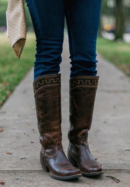 ariat sahara boots, cavender's tall brown boots, tall brown cowboy boots, embroidered tall cowboy boots