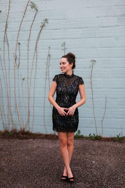 flora mia fashio, flora + mia, madison dress, black lace high neckline dress, black lace dress, flora mia madison dress, houston blogger, houston fashion blogger, houston style blogger