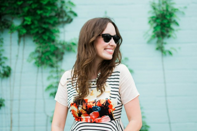Florals and Stripes with Pearls and Vintage Inspired Sunnies