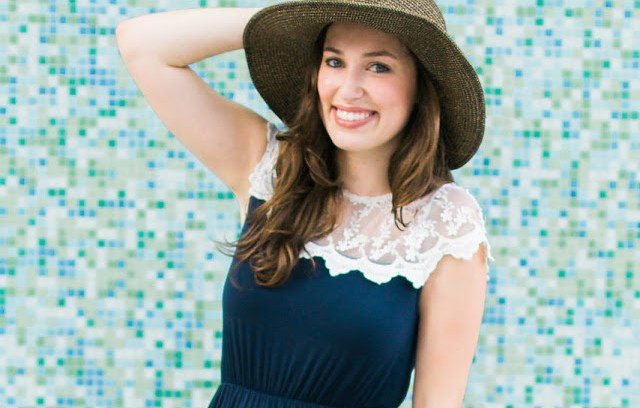 piper street navy lace dress, navy maxi dress with white lace details, anthropologie embroidered sun hat, the lone star looking glass