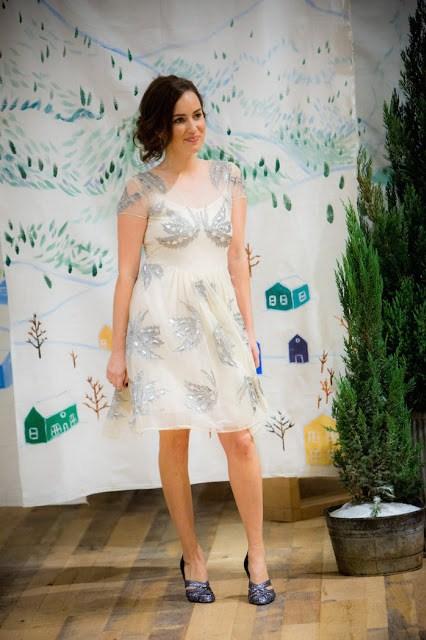 Anthropologie White Holiday Dress, anthropologie holiday dress, snow angel dress, anthropologie white and silver dress, anthropologie snow angel dress