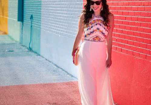 modcloth embroidered maxi dress, modcloth white maxi dress, white embroidered maxi dress, sugar and cloth color wall