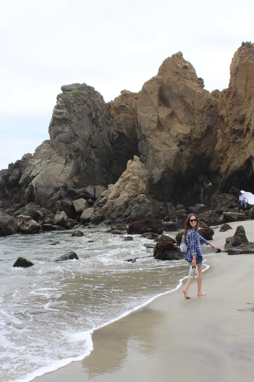 pfieffer beach big sur california, what to do in big sur california, big sur california travel guide, lone star looking glass travels, texas blogger california travel guide, purple sand at pfieffer beach