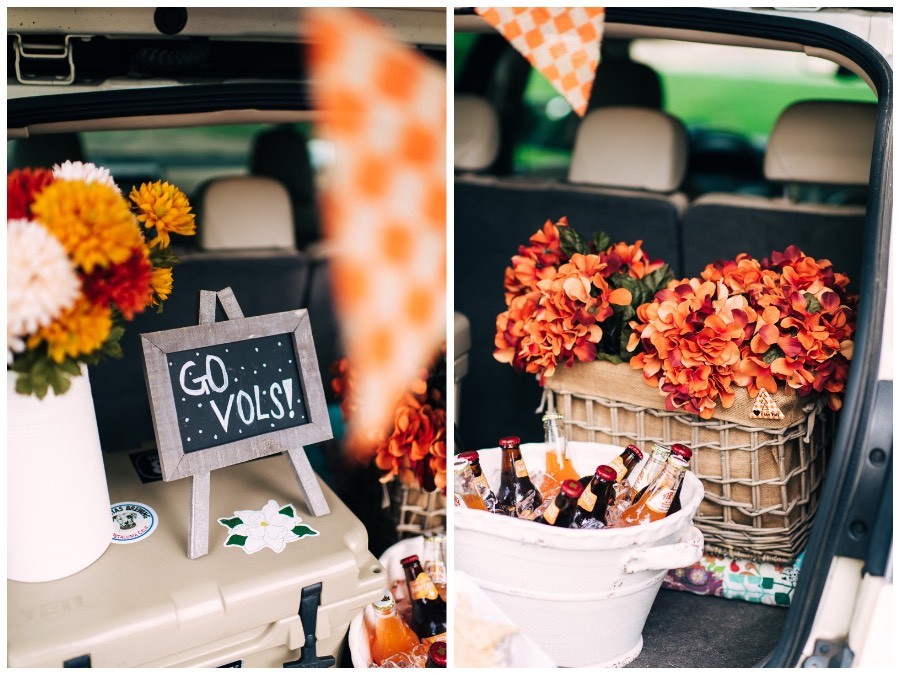 Orange and white Tennessee football tailgating ideas with Draper James. & Tips for a Stylish Southern Tailgate | Lone Star Looking Glass