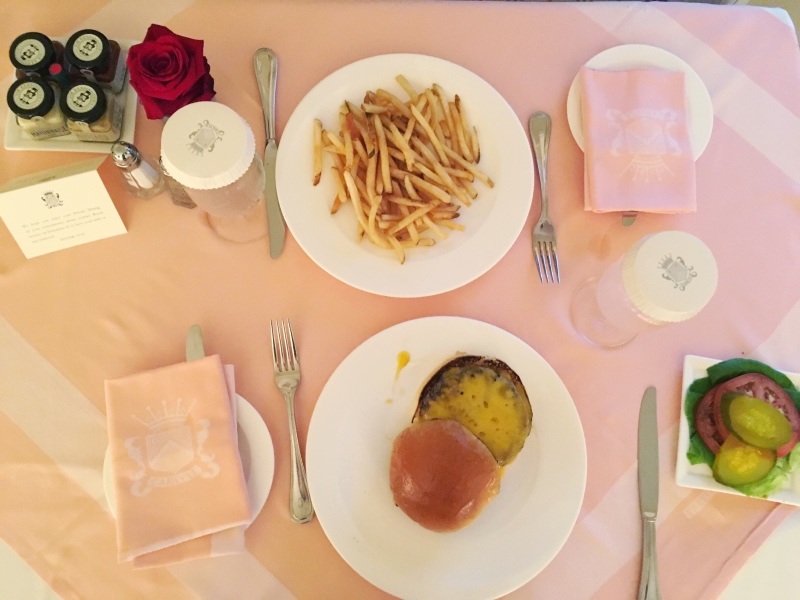Room service at The Carlyle Hotel in New York City.