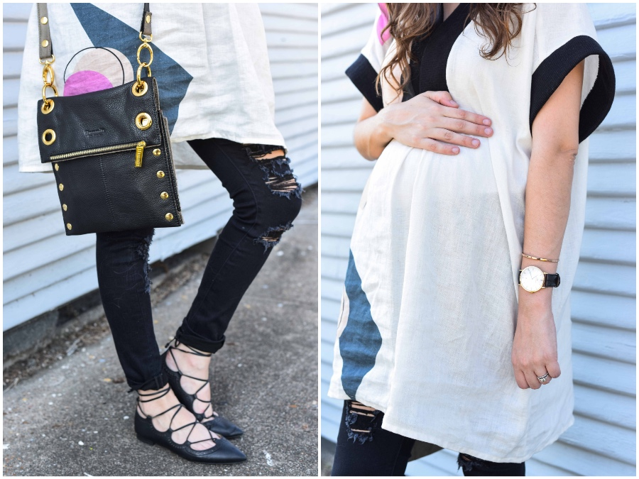 Alice of Lone Star Looking Glass shares tips on how to wear your regular jeans when you're pregnant.