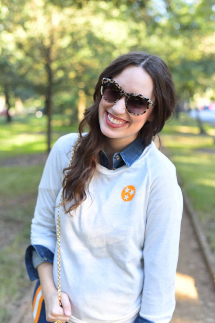 Lone Star Looking Glass styles a look for Tennessee Gameday in Stewart Simmon's Tennessee Tristar Sweatshirt.