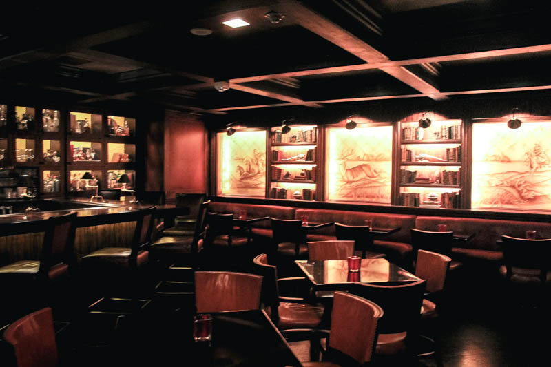 The hotel bar at The Rosewood Mansion in Dallas, TX.