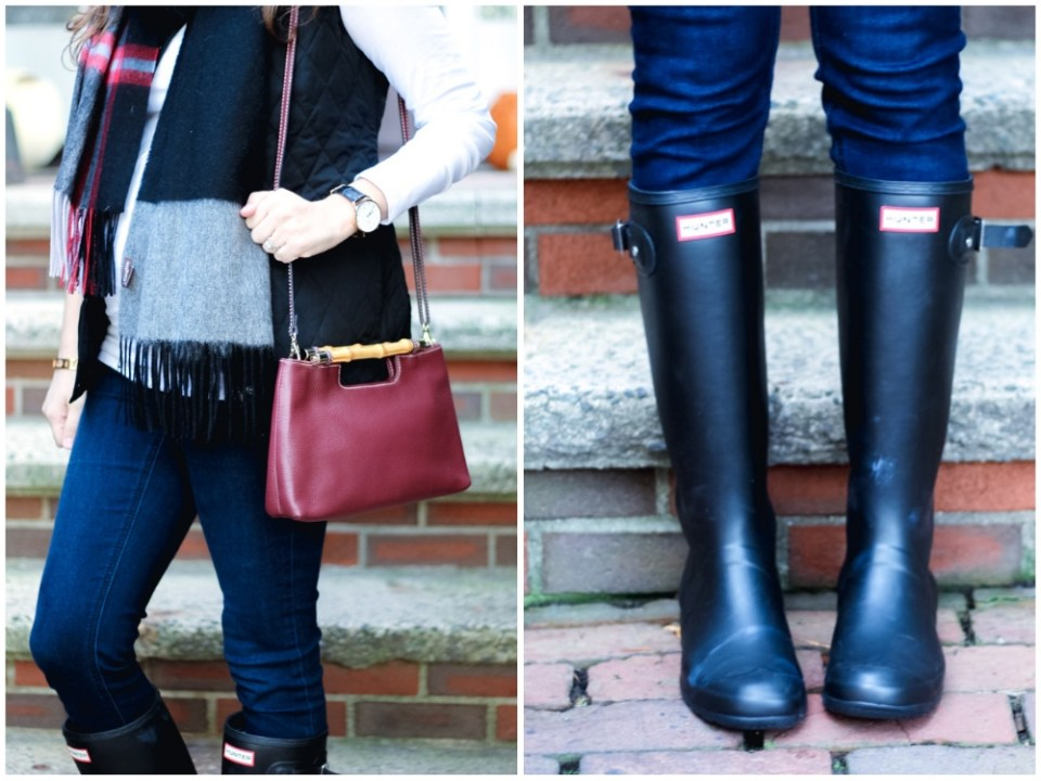 fall_outfit_inspiration_blanket_scarf_hunterboots