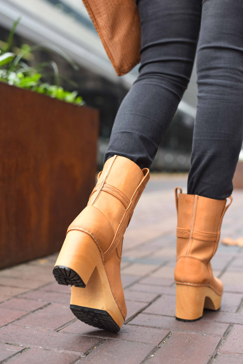 Houston fashion blogger styles and reviews Swedish Hasbeens Country Boots.