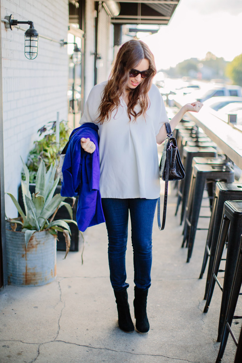 Houston fashion blogger styles a look from Rent the Runway.