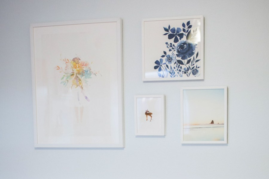 Minted Art in an eclectic baby girl nursery