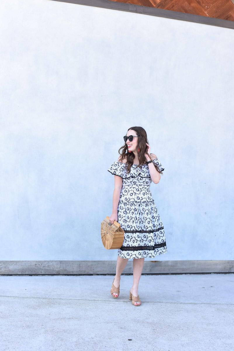 Black_White_Off_The_Shoulder_Spring_Dress-12