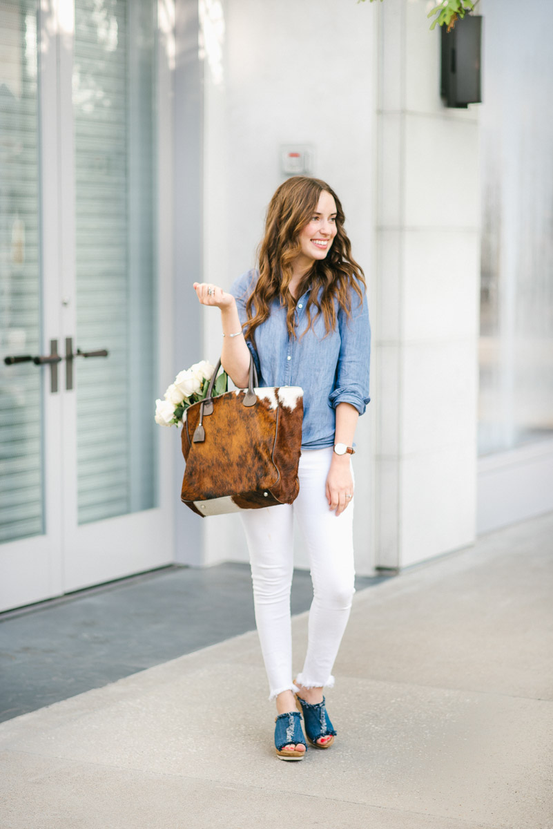 White Jeans With Denim Jacket - Xtellar Jeans