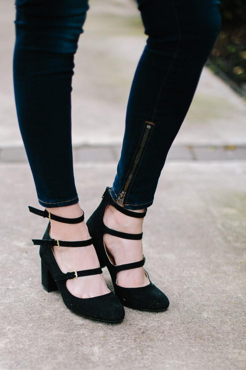 Zooshoo black mary jane heels