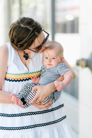 Houston fashion blogger Alice Kerley snaps a shot with her little girl, Annie.
