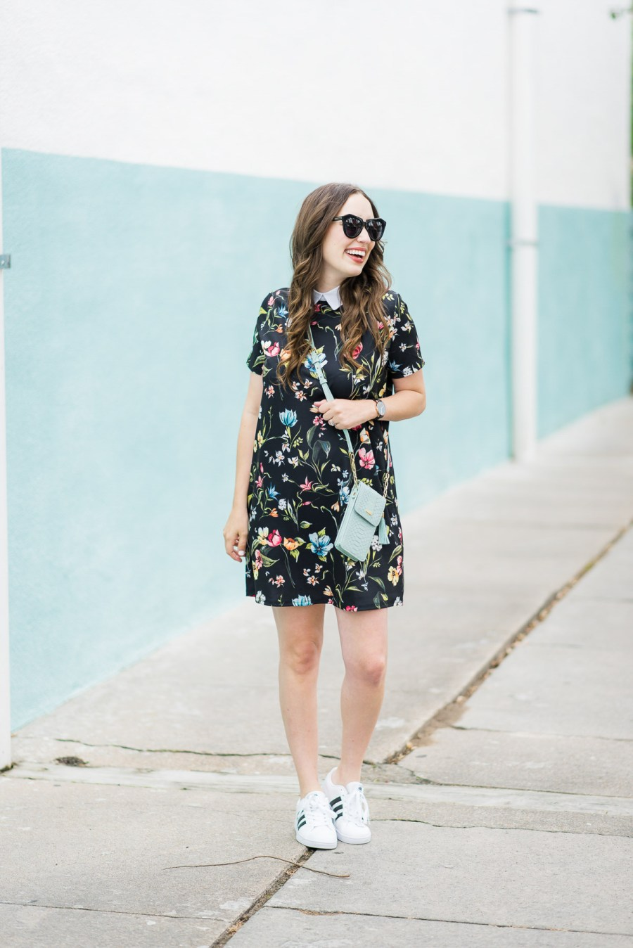 Floral_Shirt_Dress_Adidas_Sneakers-9