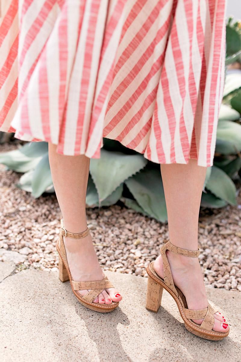 Summer shoe inspiration with Elaine Turner Cork Heels.