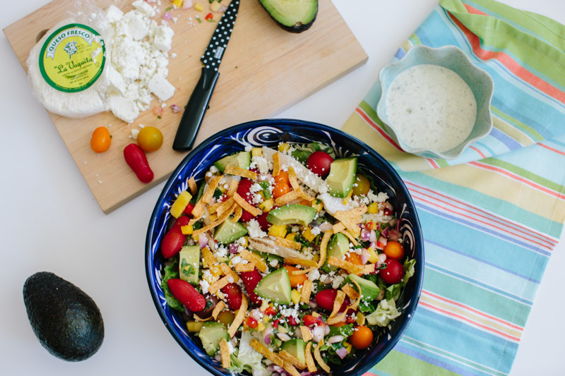 Southwestern grilled chicken summer salad recipe. Easy salad recipes.