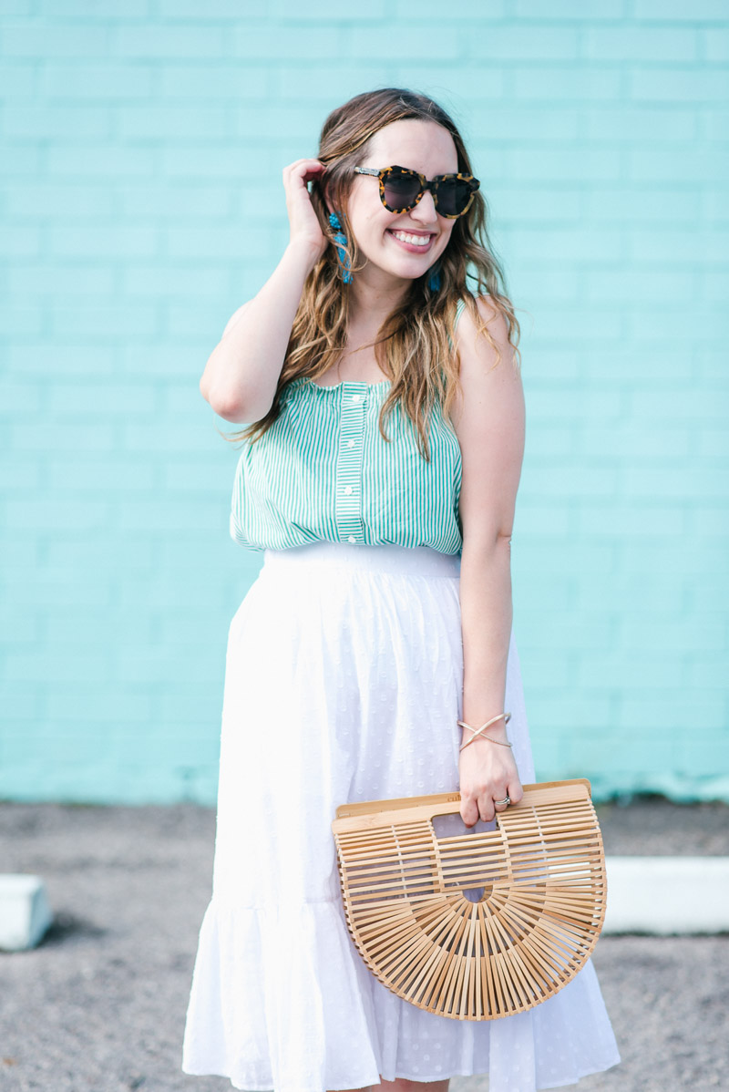Houston fashion blogger styles a J.crew skirt & top for summer.