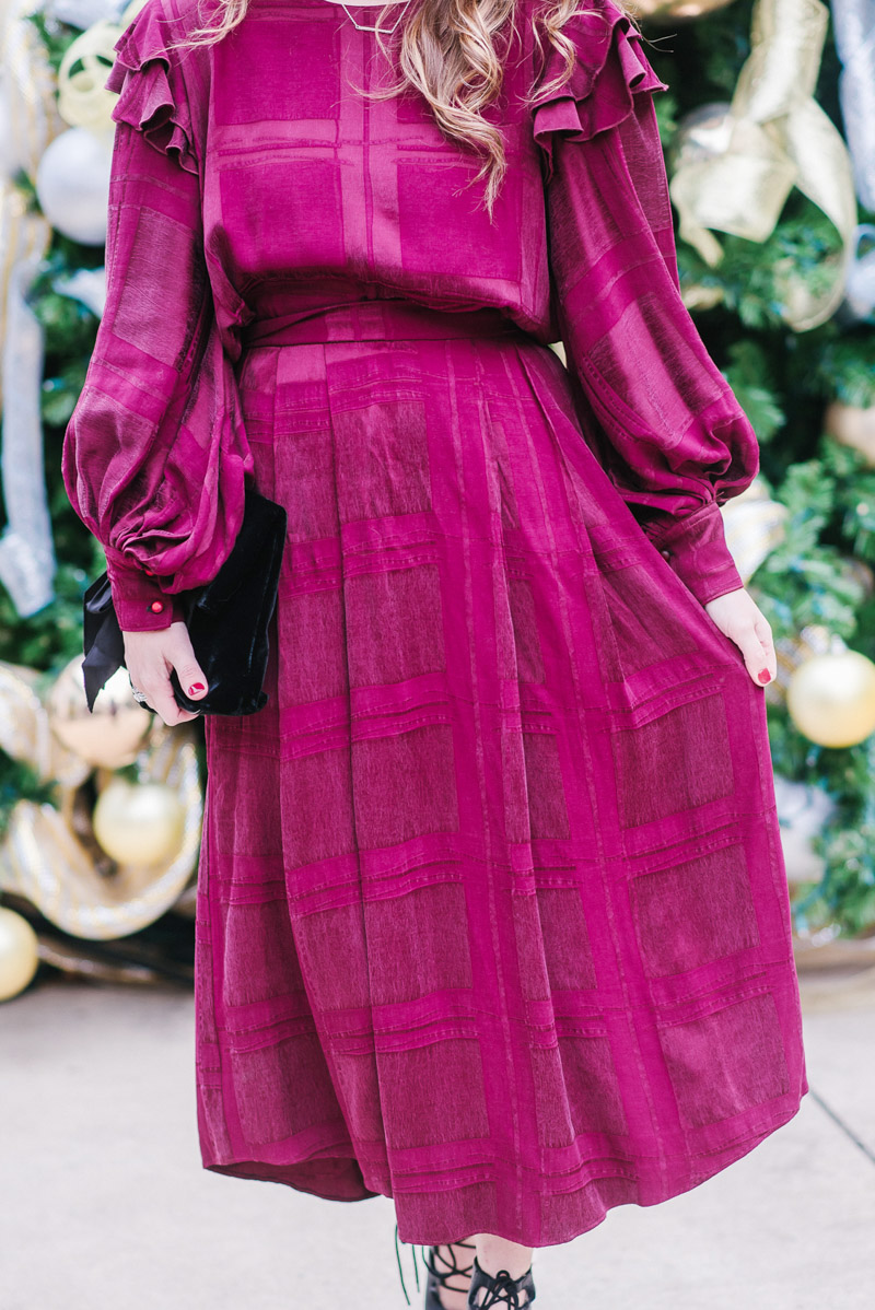 Hunter Ball Fall 2017 - Maroon Skirt & Top