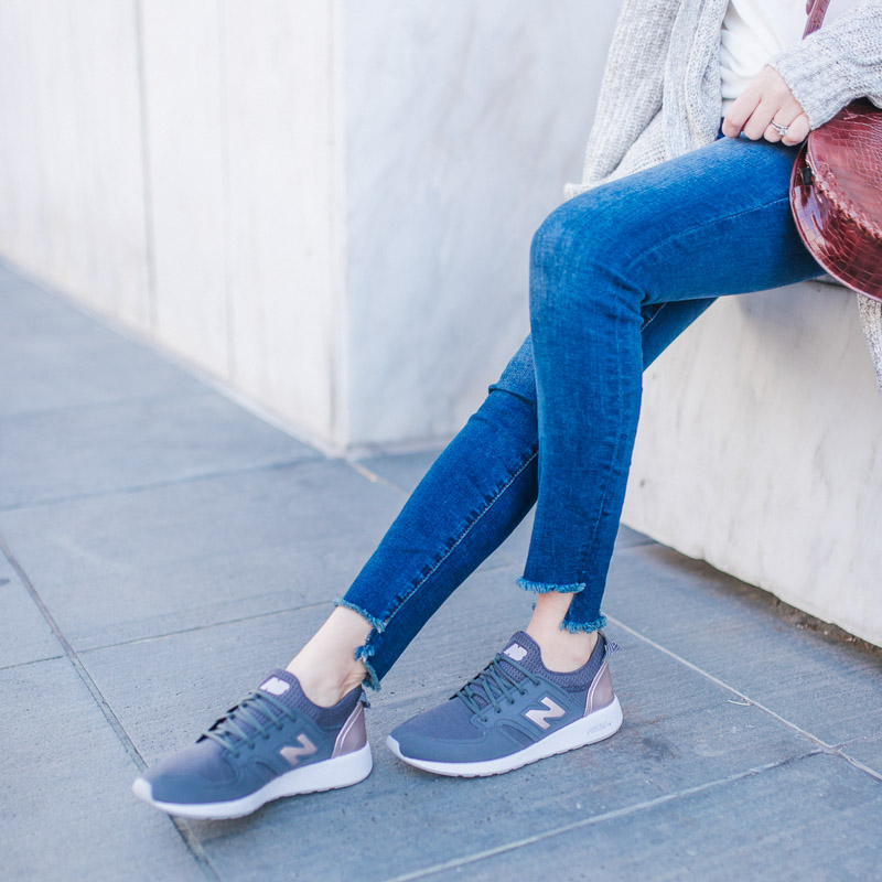 Slip on New Balance Sneakers in Gray and Rose Gold - Best Mom Shoes!