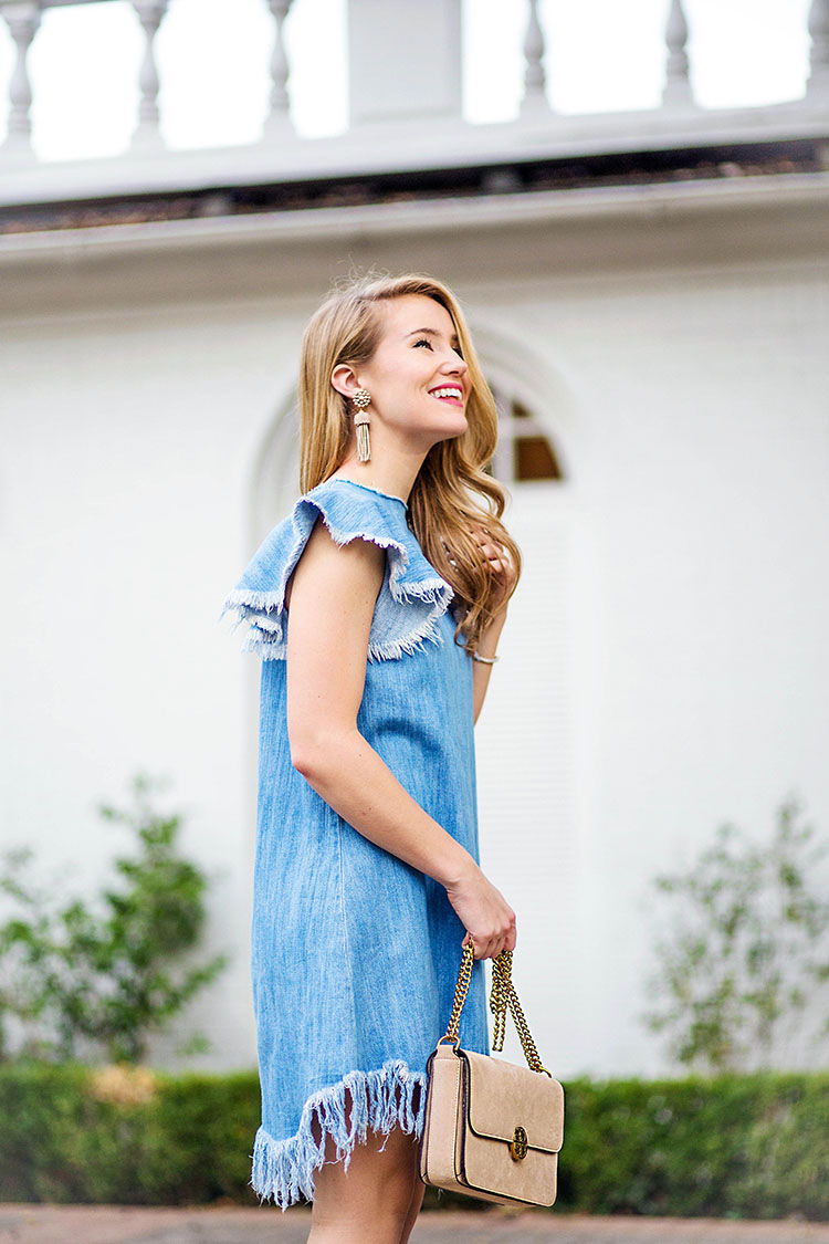 denim fringe dress