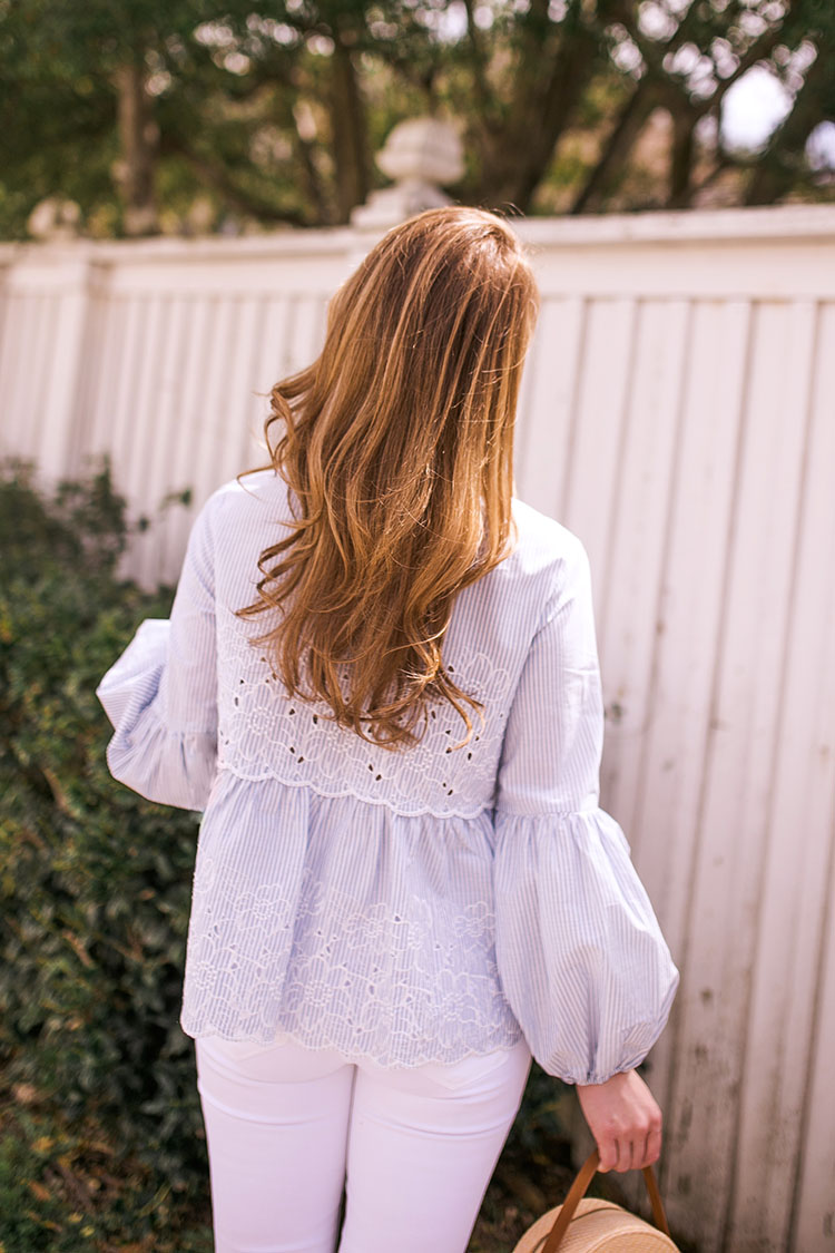 scalloped embroidered top