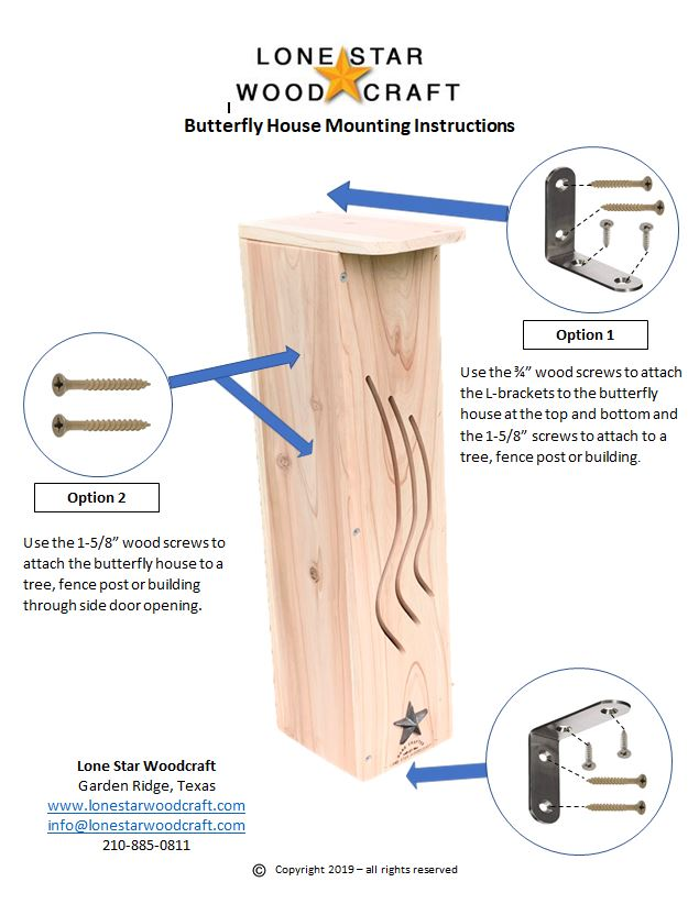 Butterfly House Mounting Instructions