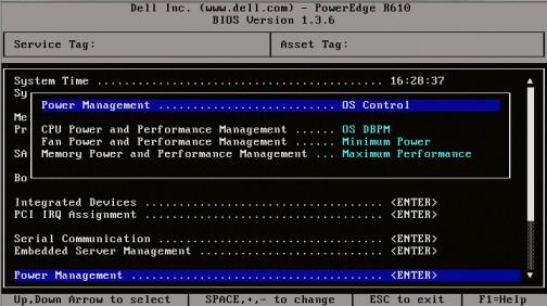 Dell R610 Bios 1.3.6 - Power Management