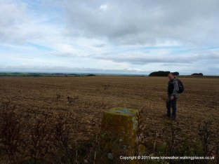 We diverted to pick up a trig point, just beside the path....