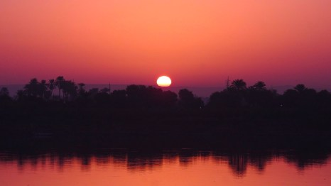 Sunrise on the Nile, Edfu, Egypt